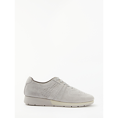 John Lewis Designed for Comfort Erika Lace Up Trainers, Grey Suede
