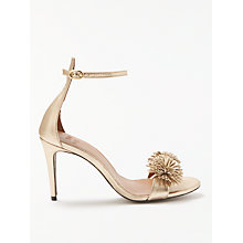 Buy AND/OR Marcie Pom Sandals, Gold Leather Online at johnlewis.com