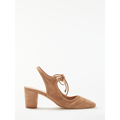Modern Rarity Carenza Tie Court Shoes, Taupe Suede
