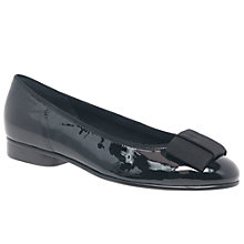 Buy Gabor Assist Bow Ballet Pumps, Black Patent Leather Online at johnlewis.com
