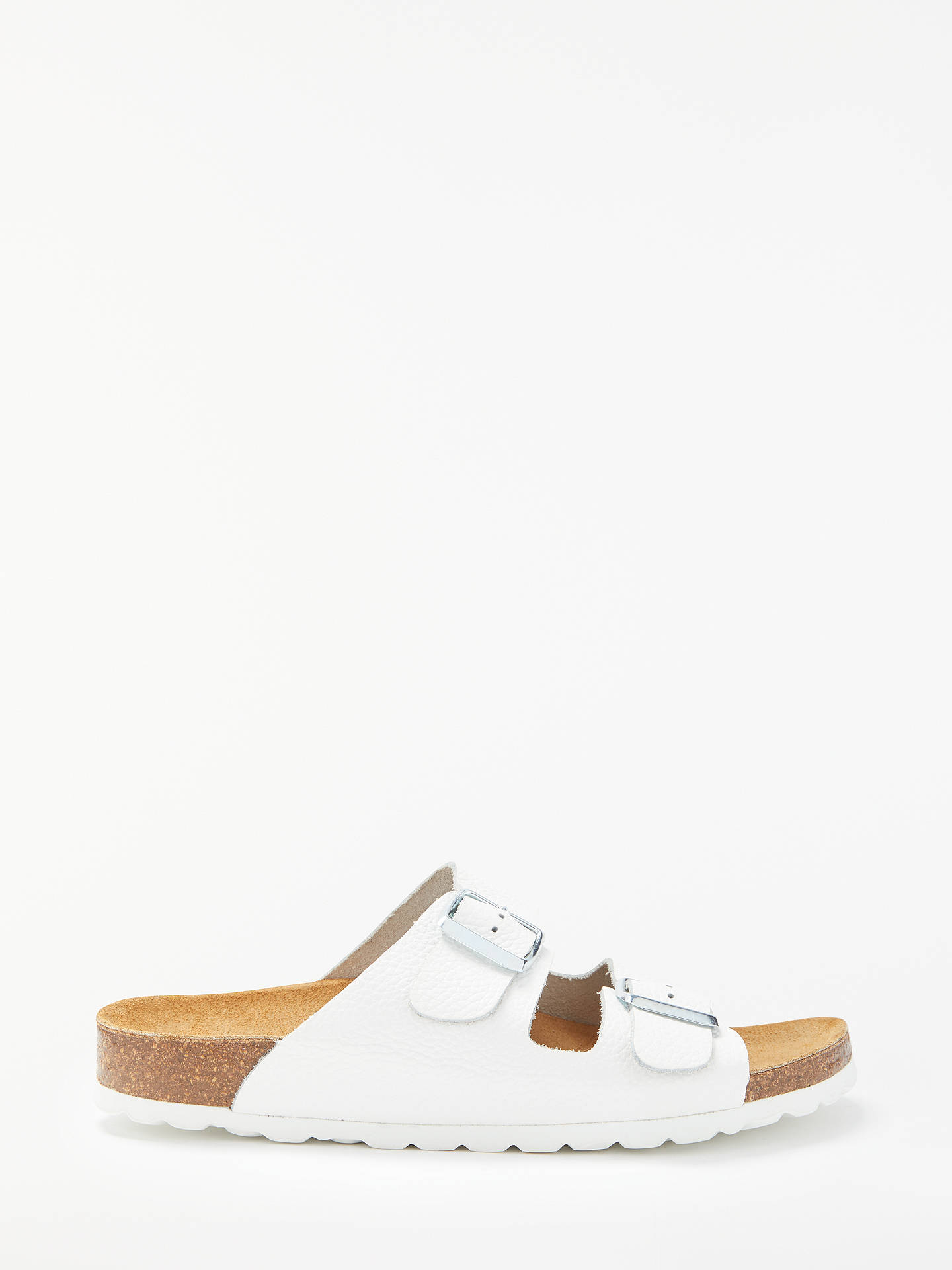 John Lewis Partners Lee Double Strap Slider Sandals White Leather Tendencies Footbed 2 Brown 40 Buyjohn 3 Online At