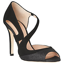 Buy L.K. Bennett Valentina Stiletto Heeled Sandals, Black Online at johnlewis.com