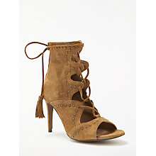 Buy AND/OR Cassandra Stiletto Heeled Sandals, Tan Suede Online at johnlewis.com