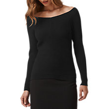 Buy L.K. Bennett Aida Knitted Top, Black Online at johnlewis.com