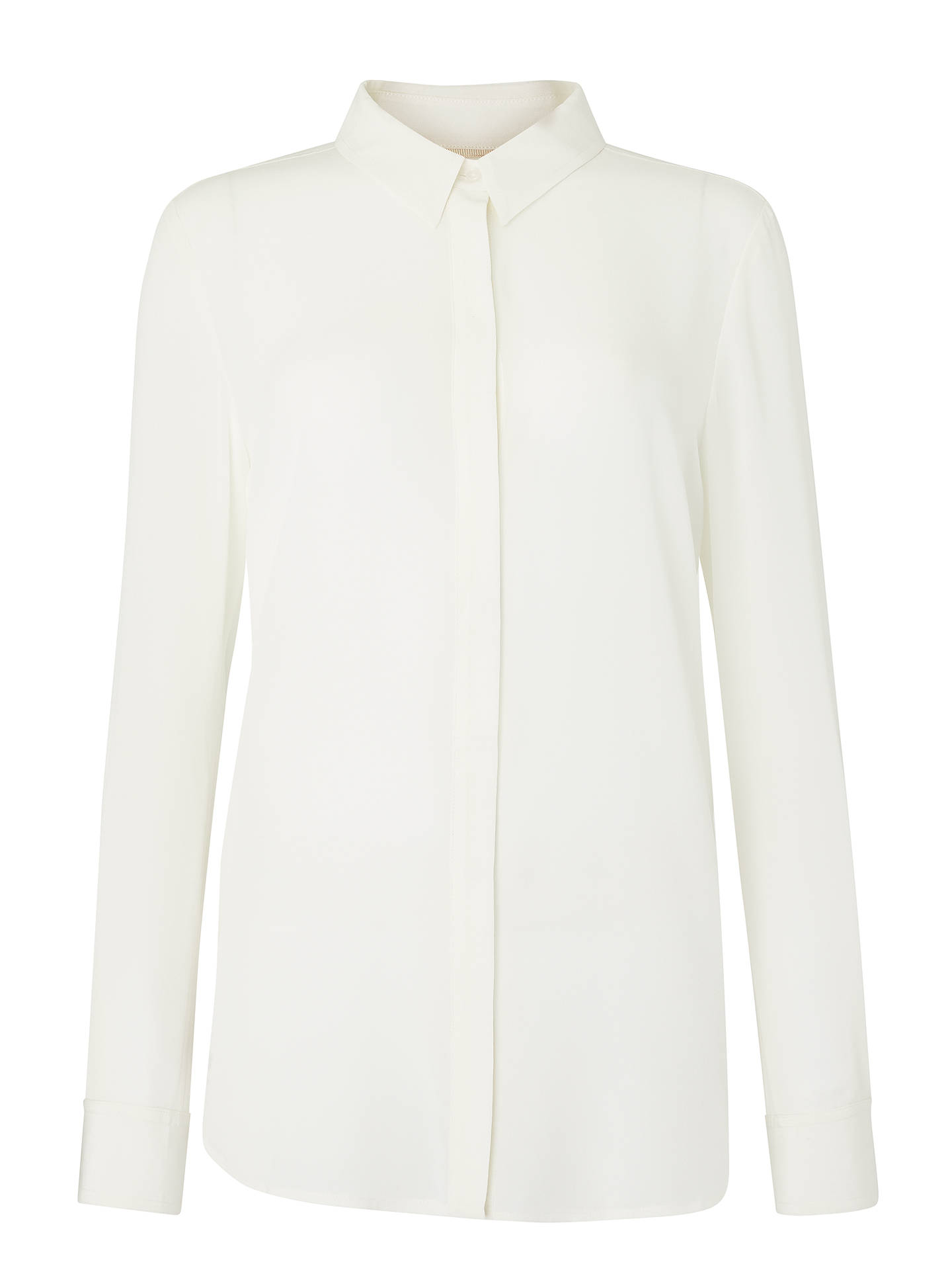 BuyBoden The Silk Shirt, Ivory, 8 Online at johnlewis.com