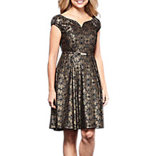 Buy Yumi Foil Lace Dress, Black Online at johnlewis.com