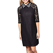 Buy Yumi Lace Embellished Dress, Black Online at johnlewis.com