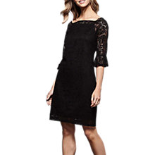 Buy Yumi Lace Bodycon Shift Dress, Black Online at johnlewis.com