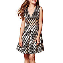 Buy Yumi Sleeveless Geometric Dress, Black Online at johnlewis.com