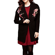 Buy Yumi Floral Cardigan, Black Online at johnlewis.com