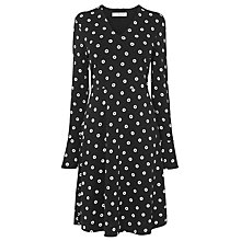 Buy L.K. Bennett Aman Spot Dress, Black/Cream Online at johnlewis.com