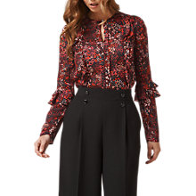 Buy L.K. Bennett Robin Floral Silk Blouse, Red Online at johnlewis.com
