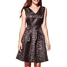 Buy Yumi Floral Weave and Butterfly Dress, Black Online at johnlewis.com