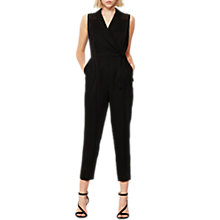 Buy Mint Velvet Tux Front Jumpsuit, Black Online at johnlewis.com