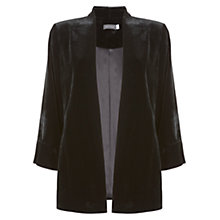 Buy Mint Velvet Velvet Kimono, Black Online at johnlewis.com