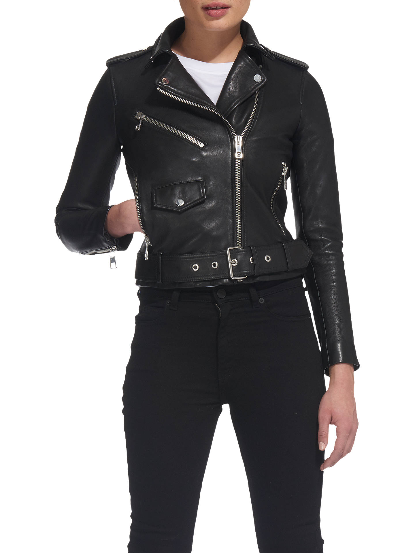 5dd70d7d1 Whistles Agnes Biker Jacket, Black