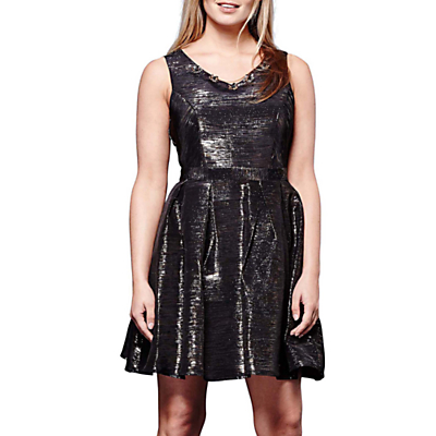 Yumi Metallic Dress, Black