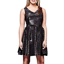 Buy Yumi Metallic Dress, Black Online at johnlewis.com