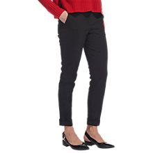 Buy Whistles Sadie Slim Leg Trousers, Black Online at johnlewis.com