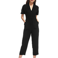 Buy Whistles Mercy V-Neck Crepe Jumpsuit, Black Online at johnlewis.com