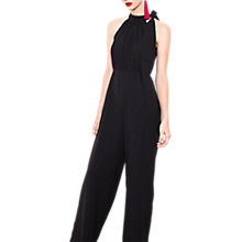 Buy Wild Pony Sleeveless Crepe Jumpsuit, Black Online at johnlewis.com