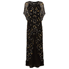 Buy Phase Eight Collection 8 Carlotta Embroidered Dress, Black/Gold Online at johnlewis.com