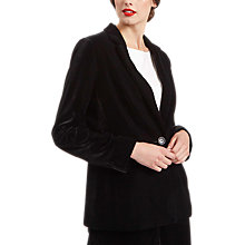 Buy Jaeger Plain Velvet Jacket, Black Online at johnlewis.com