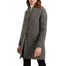 Buy Jaeger Salt And Pepper Tweed Coat, Black/Ivory Online at johnlewis.com
