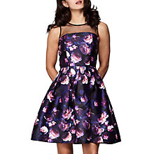 Buy Yumi Rose Printed Dress, Black Online at johnlewis.com