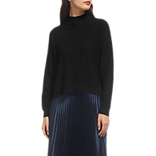 Buy Whistles Textured Funnel Neck Knit, Black Online at johnlewis.com