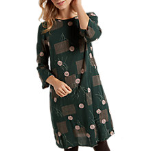 Buy White Stuff Kaoro Embroidered Floral Dress, Green Online at johnlewis.com