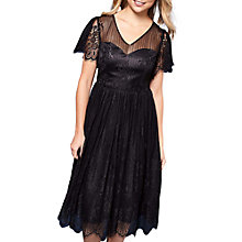 Buy Yumi Organza Lace Dress, Black Online at johnlewis.com