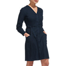 Buy Whistles Sophie Tie Waist Dress, Dark Denim Online at johnlewis.com
