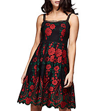 Buy Yumi Floral Embroidered Dress, Black Online at johnlewis.com