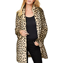 Buy Damsel in a dress Carter Leopard Faux Fur Coat, Leopard Online at johnlewis.com