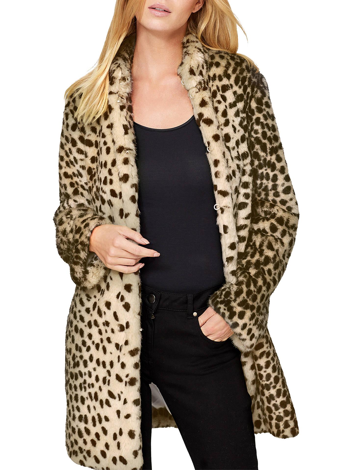 8dcef7fe6 Buy Damsel in a Dress Carter Leopard Faux Fur Coat, Leopard, 8 Online at ...