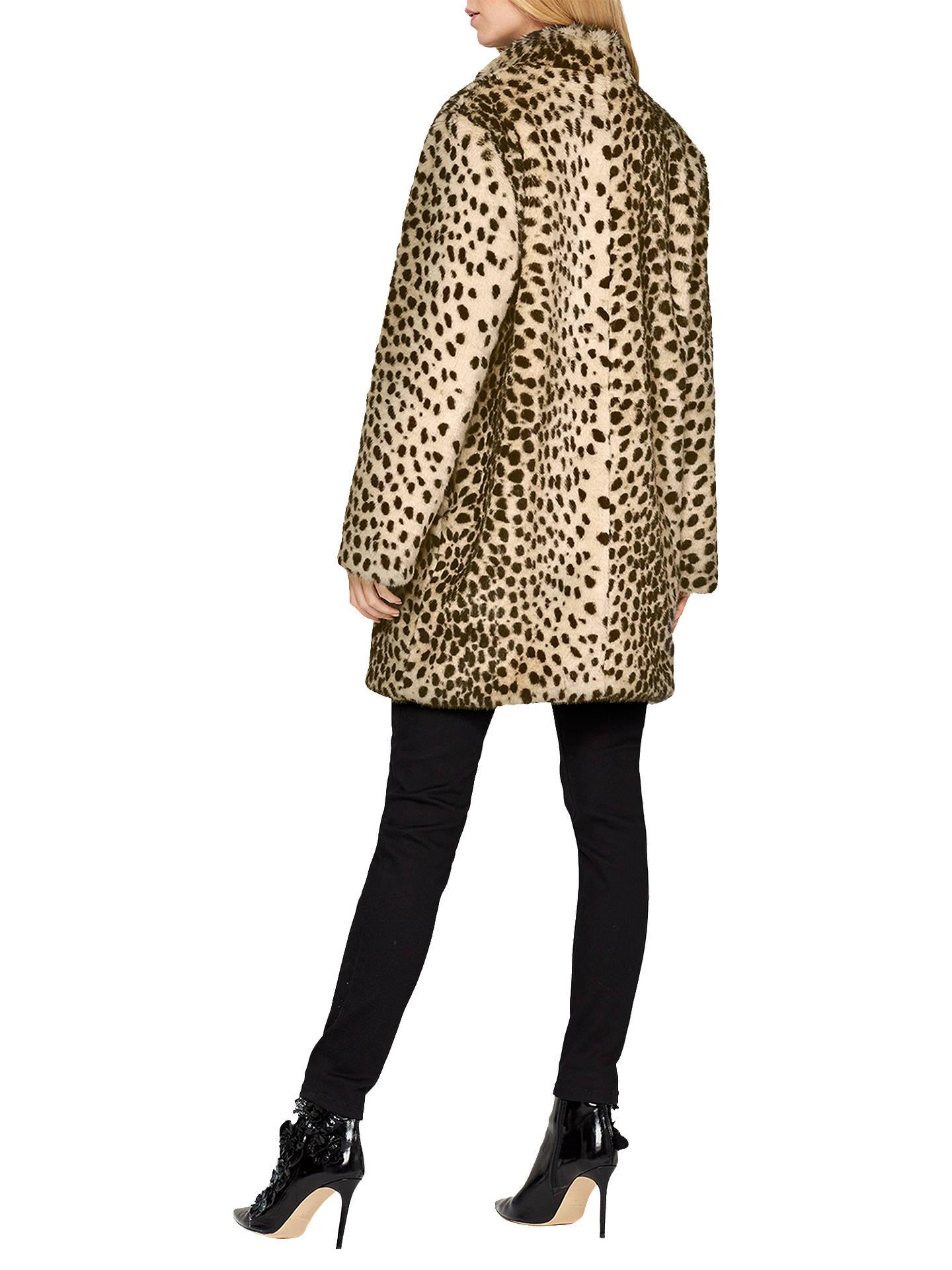 d2be563cb ... Buy Damsel in a Dress Carter Leopard Faux Fur Coat, Leopard, 8 Online  at ...