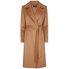 Buy Jaeger Wool Wrap Coat, Camel Online at johnlewis.com