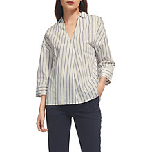 Buy Whistles Lola Striped Shirt, Blue/Multi Online at johnlewis.com
