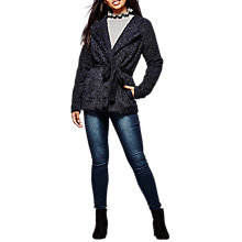 Buy Yumi Boucle Belted Jacket, Dark Navy Online at johnlewis.com
