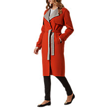 Buy L.K. Bennett Clemence Wool Rich Coat, Tomato Online at johnlewis.com