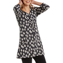 Buy White Stuff Charlotte Leaf Jersey Tunic Dress, Grey Print Online at johnlewis.com