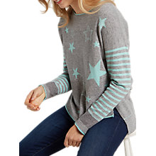 Buy White Stuff Amour Star Jumper, Grey/Multi Online at johnlewis.com