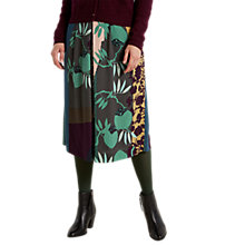 Buy White Stuff Kyoto Midi Skirt, Artists Green Print Online at johnlewis.com