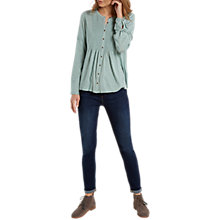 Buy White Stuff Artisan Shirring Jersey Top, Mint Green Online at johnlewis.com