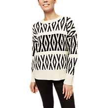 Buy Jaeger Fair Isle Jumper, Ivory Online at johnlewis.com