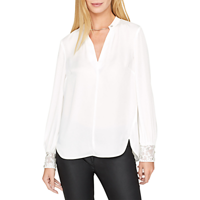 Damsel in a Dress Adra Embellished Cuff Blouse, White