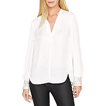 Buy Damsel in a dress Adra Embellished Cuff Blouse, White Online at johnlewis.com