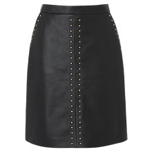 Buy L.K.Bennett Lisa Leather Skirt, Black Online at johnlewis.com