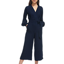 Buy Whistles Mika Wrap Tie Jumpsuit, Navy Online at johnlewis.com